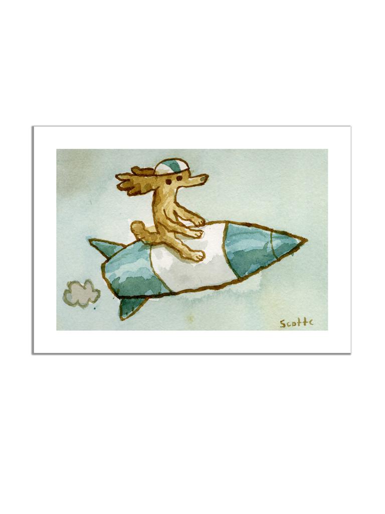 Rocket Dog Print