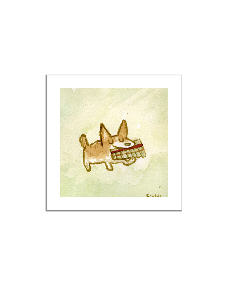 Pan Flute Dog Print