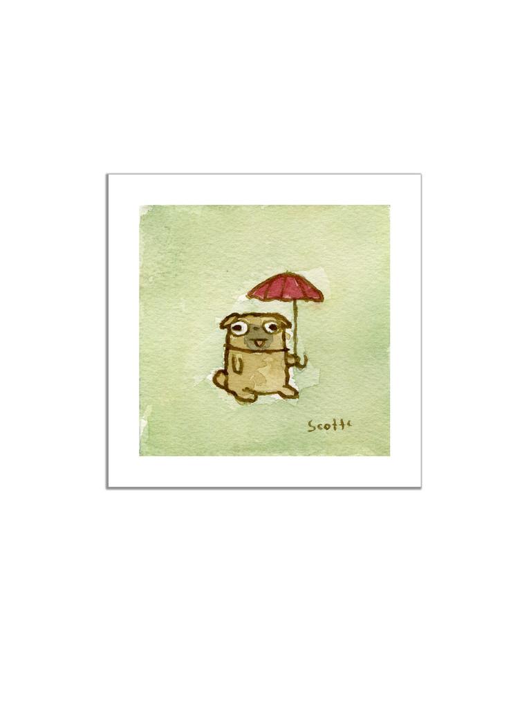 Umbrella Dog Print