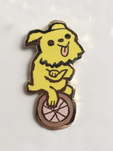 Wheel Dog Enamel Pin