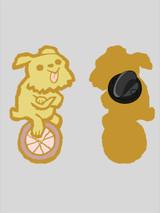 Wheel Dog Enamel Pin
