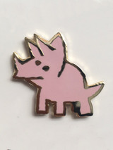 Triple Horner Enamel Pin