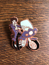 Purple Bike Pin