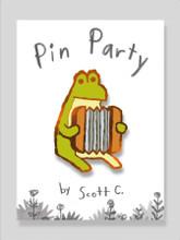 Accordion Frog Pin