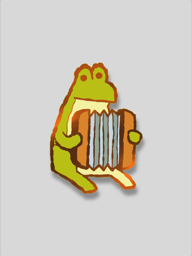 Accordion Frog Pin