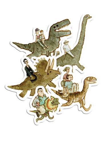 Jurassic Backs Sticker Pack