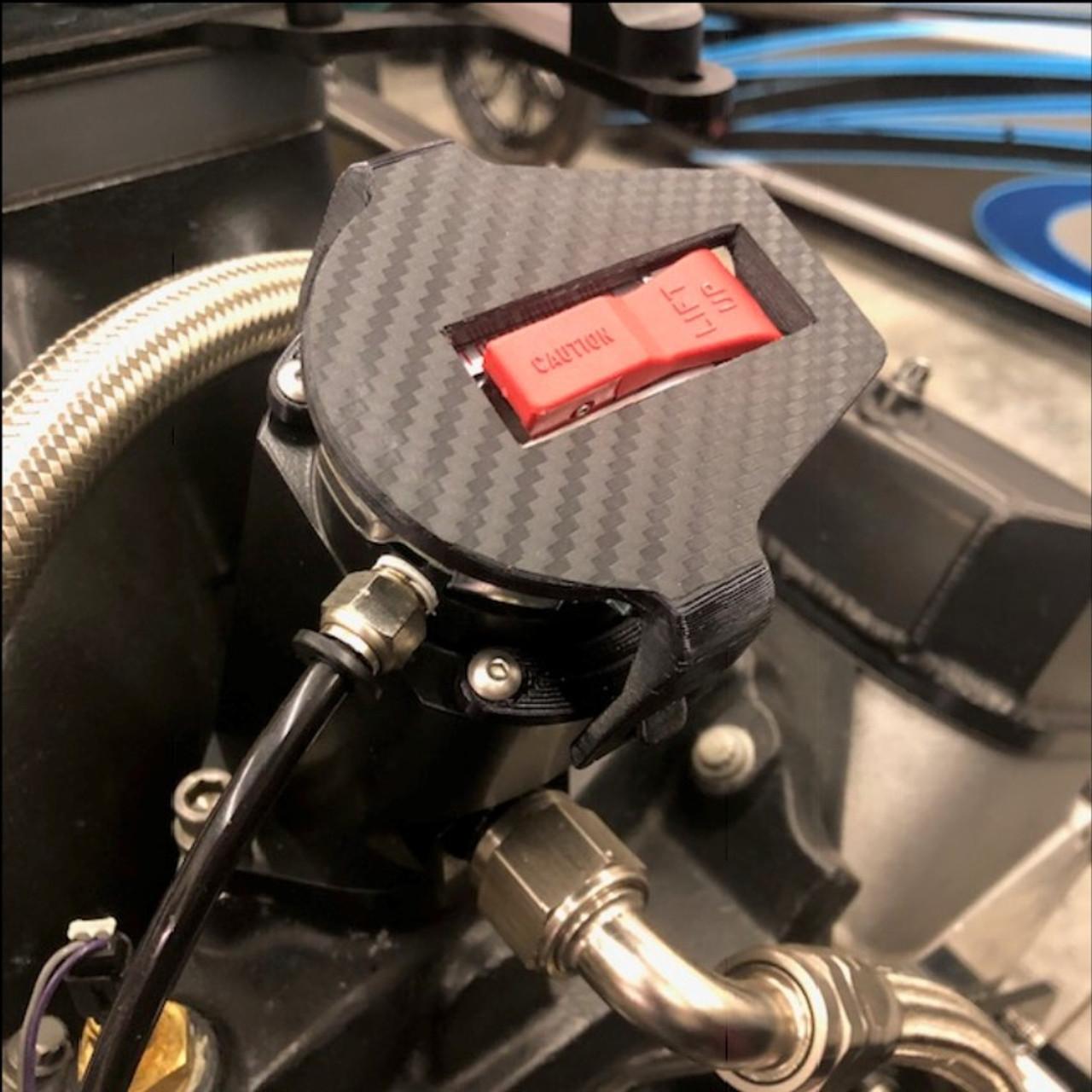 black angled dragster water filler neck