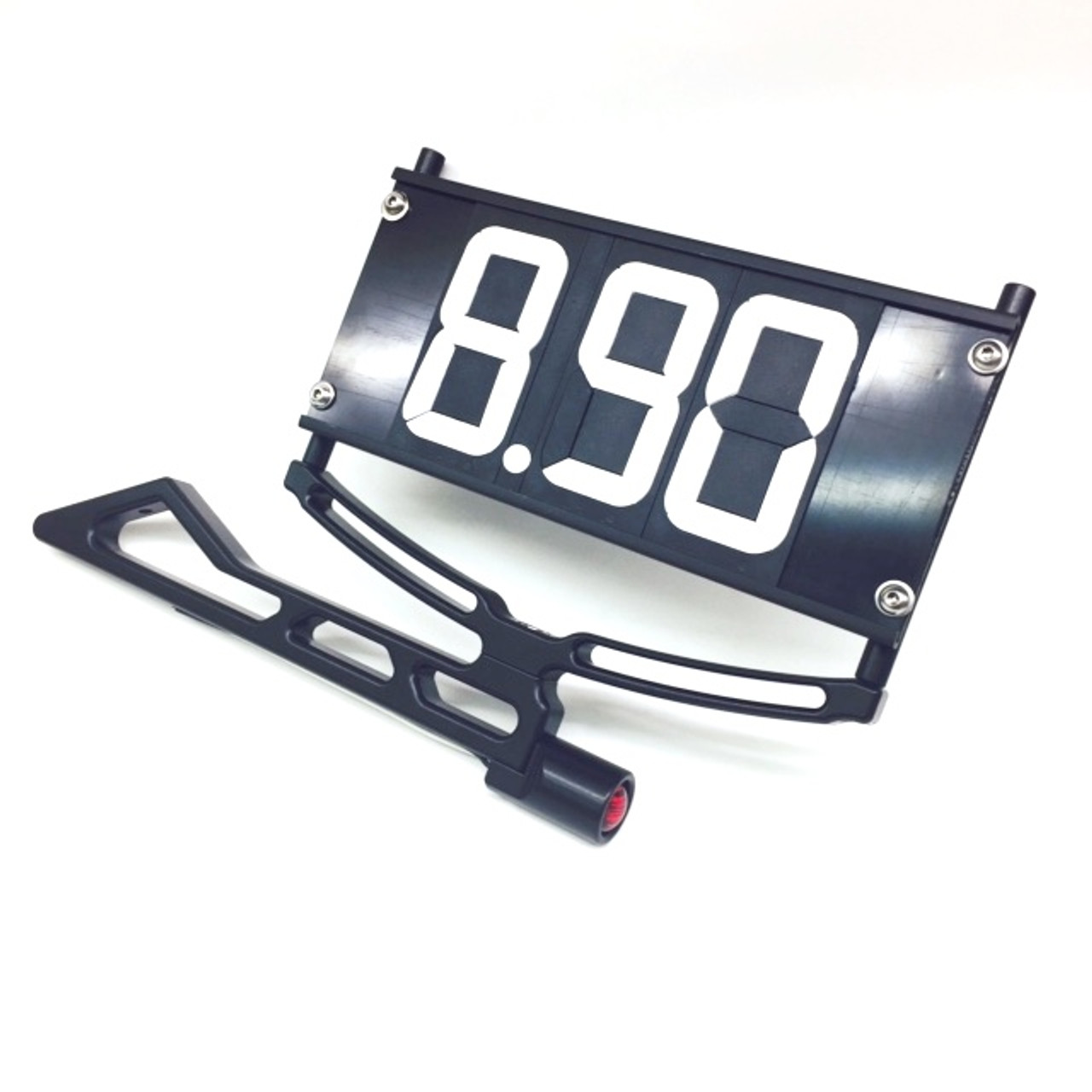 Black Dragster Dial In Board Bracket - Flip-A-Dial & Tail Light