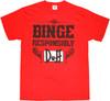 Simpsons Duff Binge Responsibly T-Shirt