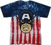 Captain America Face Tie Dye T Shirt