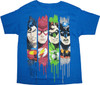 Justice League Drip Youth T Shirt