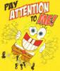 Spongebob Squarepants Attention Juvenile T Shirt