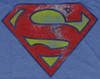Superman Logo Stripes T Shirt Sheer