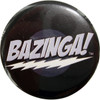 Big Bang Theory Bazinga Black Button