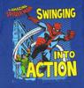 Spiderman Swinging Into Action Juvenile T Shirt