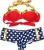 Wonder Woman Bandeau Cheeky Short Bikini Swimsuit