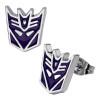Transformers Decepticon Stud Earrings