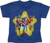 Avengers Star Heather Blue Toddler T Shirt