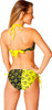 Batman Contrast Bandeau String Bikini Swimsuit