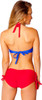 Superman Color Braid Bandeau Bikini Swimsuit