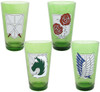 Attack on Titan Crests 4-Pack Pint Glass Set