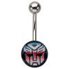 Transformers Autobot Logo Belly Ring