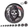 Sons of Anarchy Reaper Acrylic Plugs