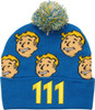 Fallout Vault Boy Face All Over Cuff Pom Beanie