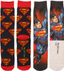 Superman Dye and Knit 2 Pack Crew Socks Set