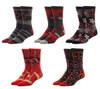 Deadpool Logos 5 Pair Casual Crew Socks Set