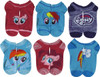 My Little Pony Characters 6 Pack Ankle Socks Set