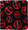 Deadpool Foiled Logos AoP Viscose Infinity Scarf