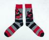 Deadpool Sword Striped Crew Socks