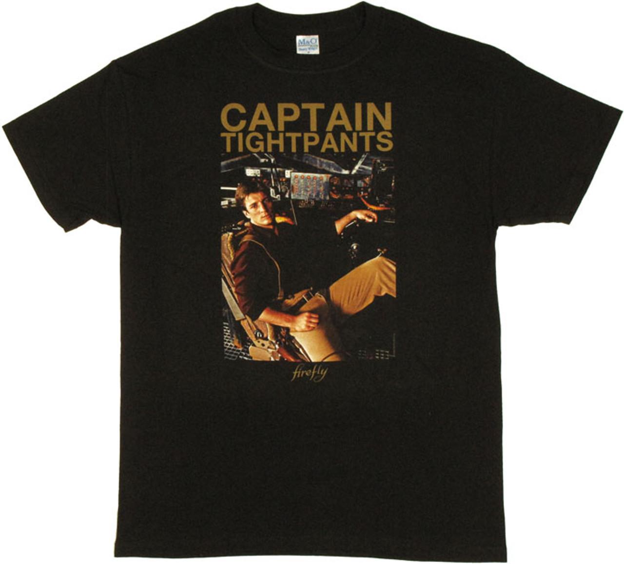 Firefly Captain Tightpants Mal Serenity Junior T-Shirt