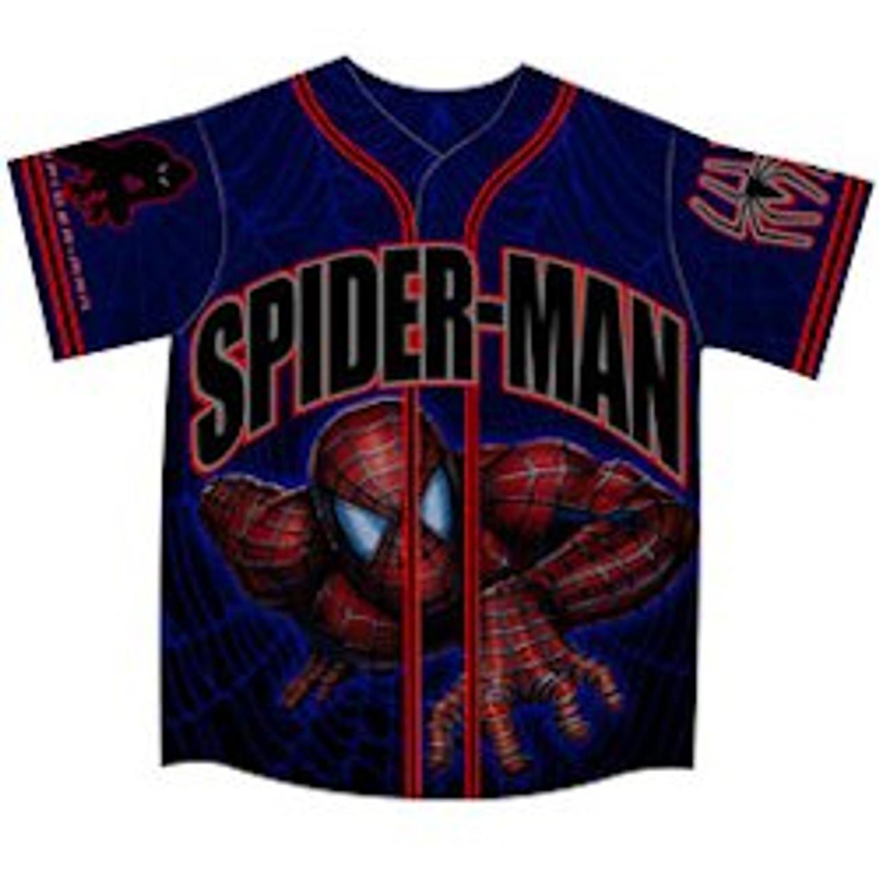 Spiderman Crawling Baseball Jersey