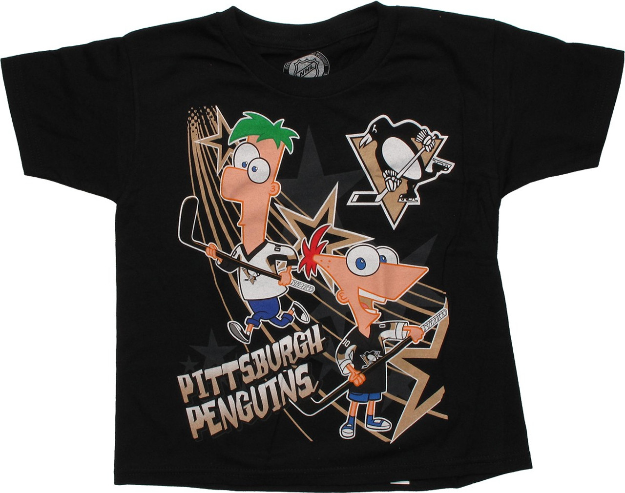 buy popular 4a90e d052f Phineas and Ferb Pittsburgh Penguins Juvenile T Shirt