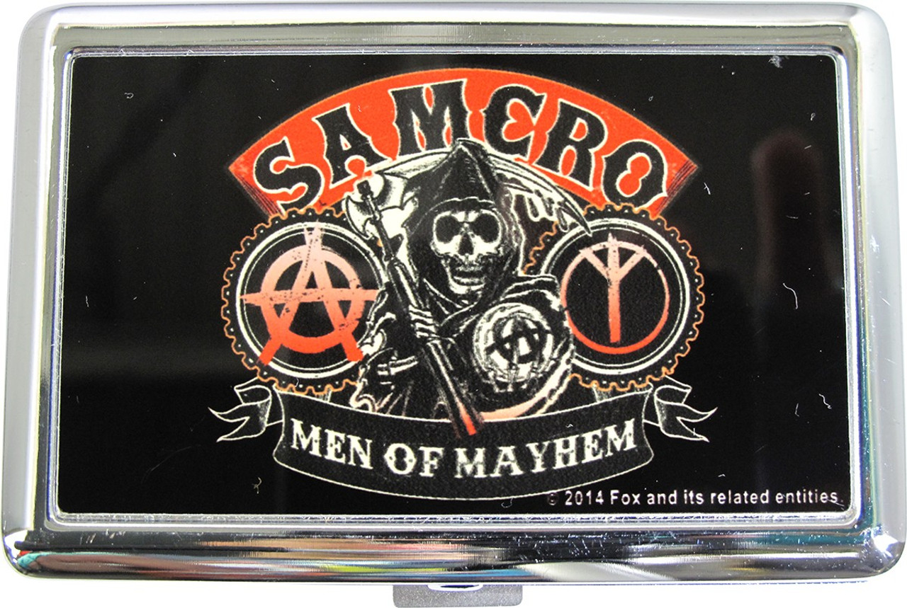 Sons of Anarchy Samcro Red Men of Mayhem Black Adult Tank Top Adult Large
