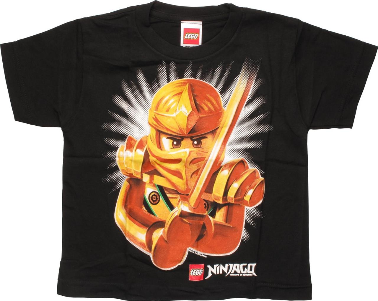 Job For Ninja! Red//Green Boys Lot of 2 Lego Ninjago Shirts Size 4 5-6 New 7
