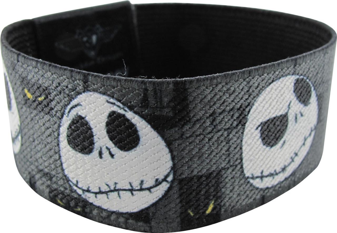 Nightmare Before Christmas Jack Face Black Silicone Bracelet Wristband Set Of 2