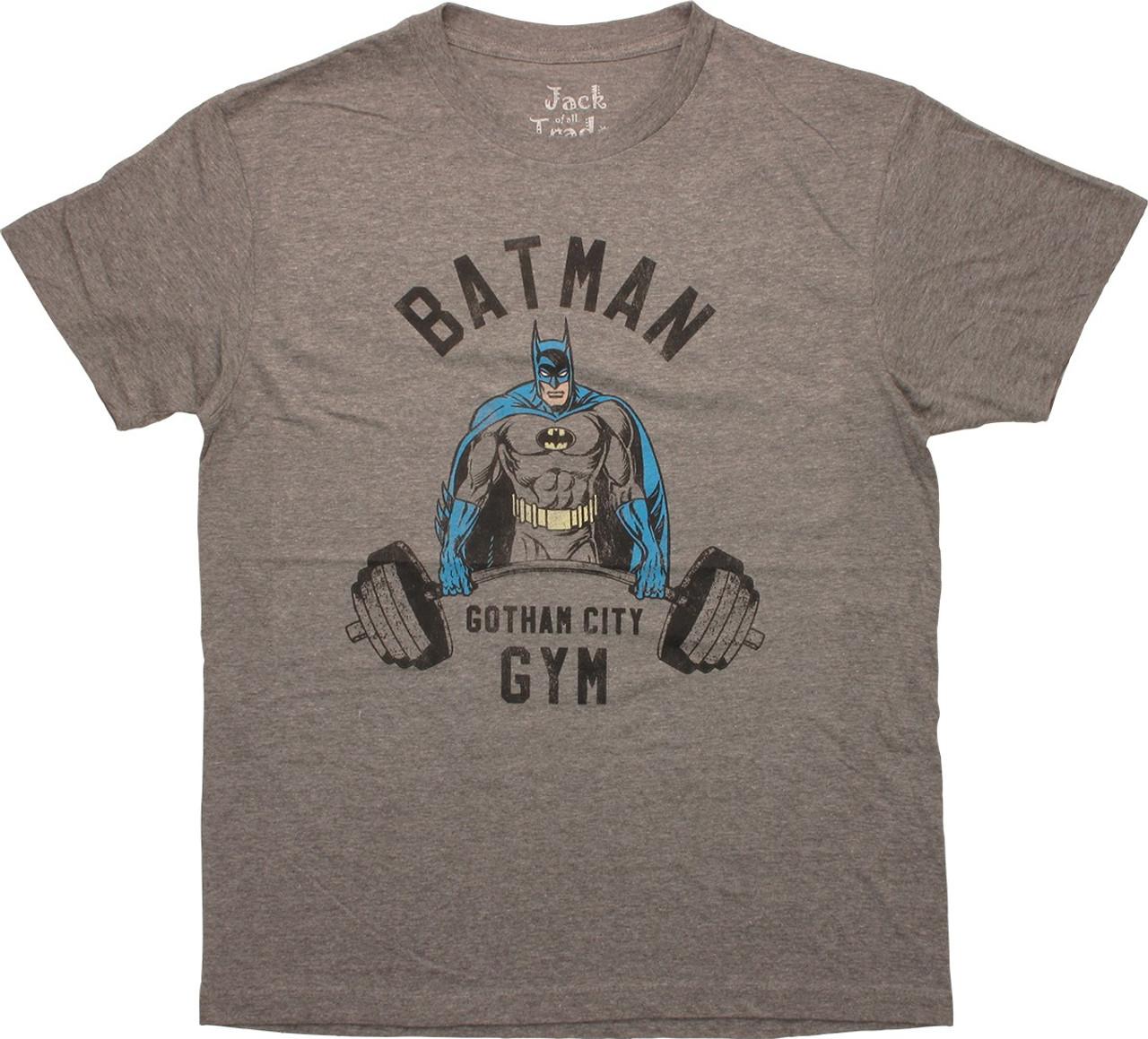 Batman Gotham City Gym Adult Work Shirt