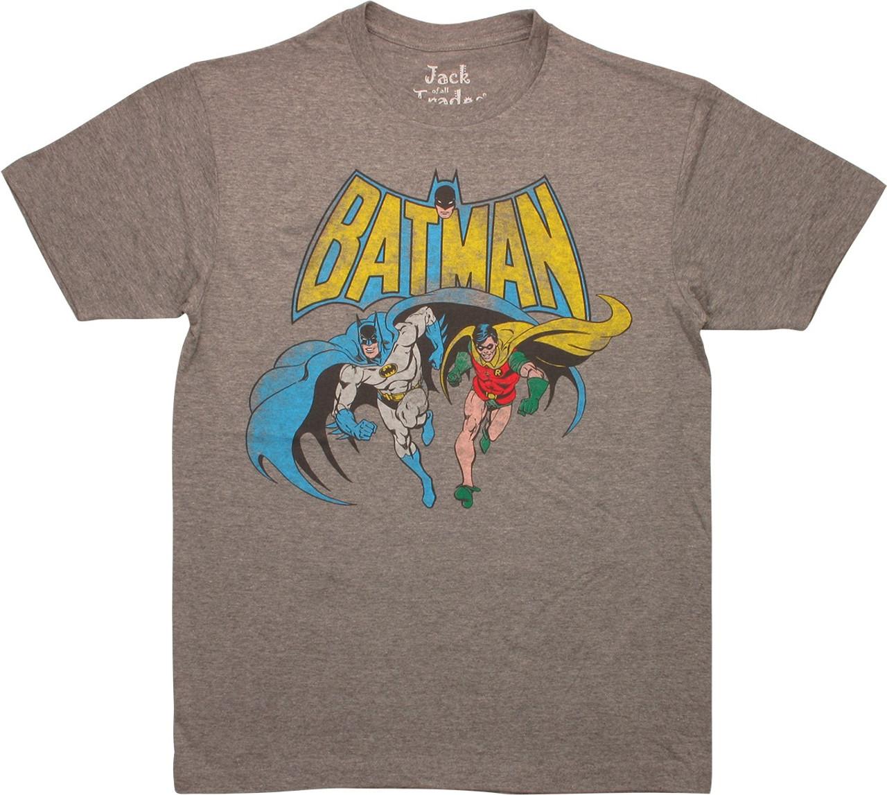 Batman 60/'s TV Show DYNAMIC DUO Robin Licensed Juniors Cap Sleeve T-Shirt