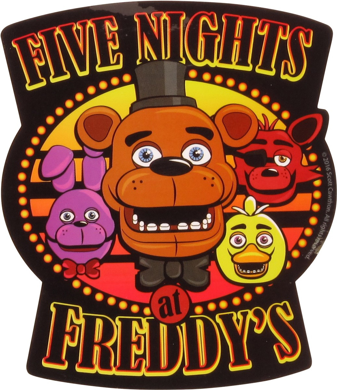 I SURVIVED 5 NIGHTS AT FREDDY/'S STICKER ~FIVE NIGHTS AT FREDDY/'S~ FREE SHIP