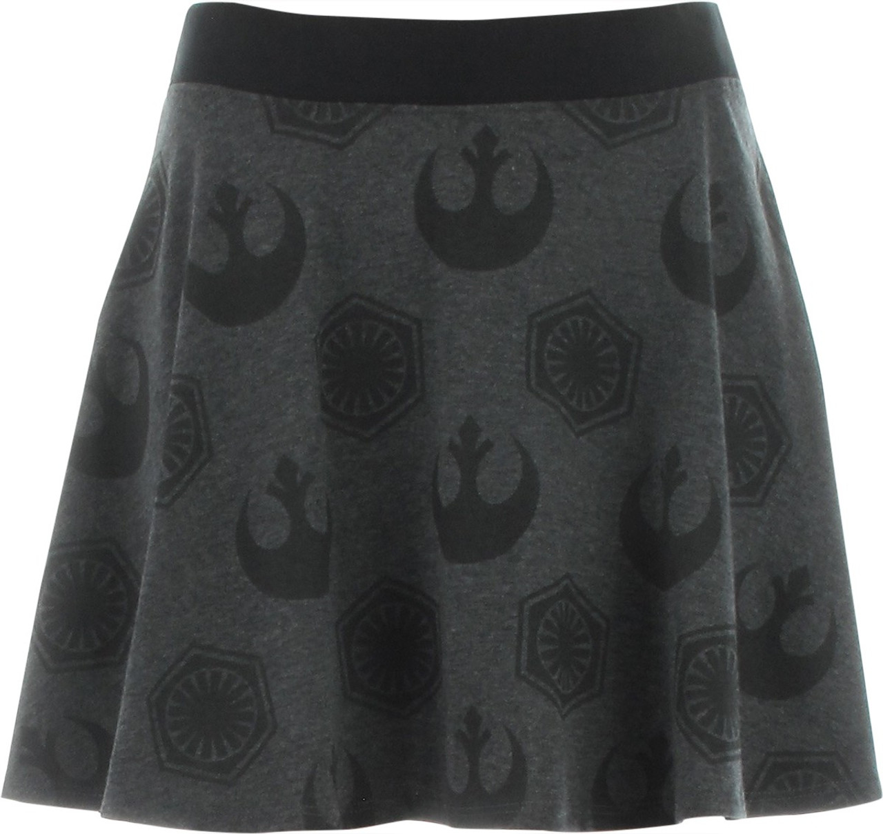 Star Wars Inspired Black and White Skater Skirt