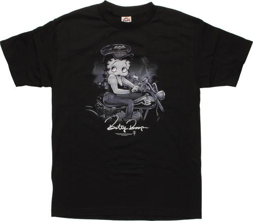 Betty Boop On Bike T-Shirt