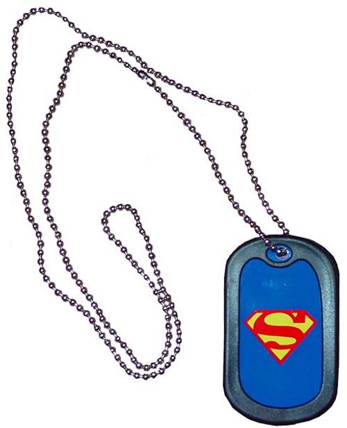 Superman Dog Tag Necklace