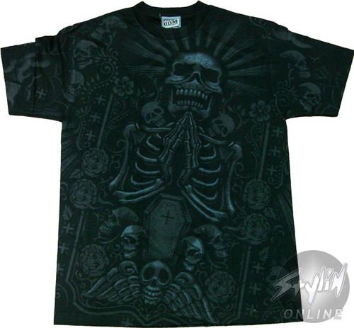 Exile Skeleton Coffin T-Shirt