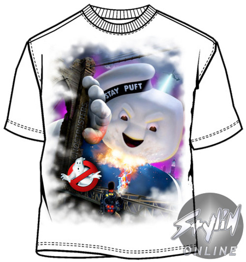 Attack Of The Marshmallow Man Stay Puft Mens Funny Ghostbusters Inspired T-Shirt