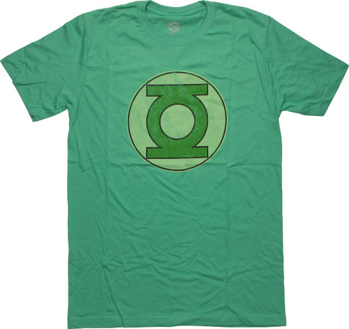 Green Lantern Vintage Logo T-Shirt Sheer