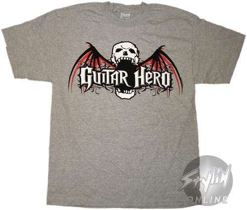 Guitar Hero Skull Bat T-Shirt