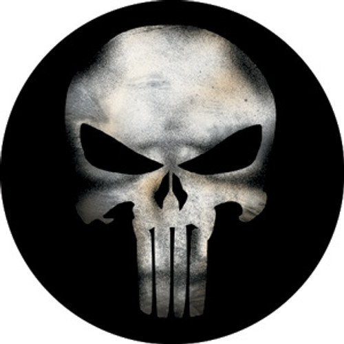 Punisher Movie Skull Button